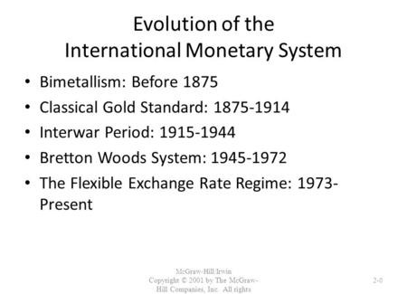 evolution of international monetary system Wp/13/224 the international monetary system: where are we and where do we need to go rakesh mohan, michael debabrata patra and muneesh kapur.