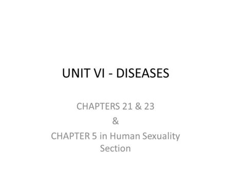 CHAPTERS 21 & 23 & CHAPTER 5 in Human Sexuality Section