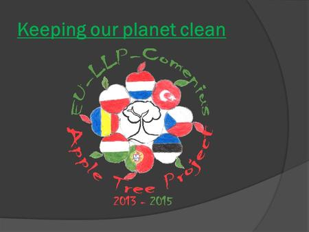 Keeping our planet clean. Too much waste  On our planet is too much waste.  In some countries,there is not enough space to put any more waste underground.