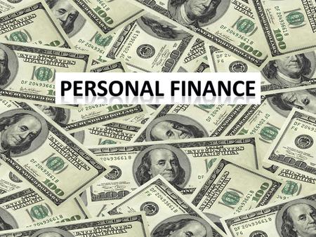 PERSONAL FINANCE Financial planning for individuals. Generally, it involves analyzing your current financial position, predicting short-term and long-term.