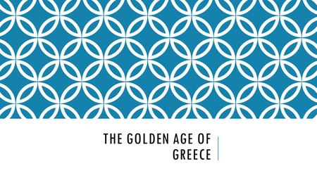 THE GOLDEN AGE OF GREECE. The Power of Greek Myths and Legends  Trojan War- War fought between the Greeks and the people of Troy.  Gods and goddesses.