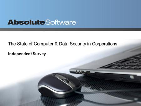 The State of Computer & Data Security in Corporations Independent Survey.
