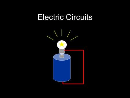 Electric Circuits. What is Electric Current? Current in a river –The movement of water molecules Higher current = more water passing a given point each.