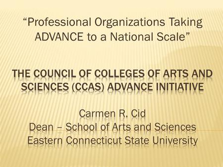 """Professional Organizations Taking ADVANCE to a National Scale"""