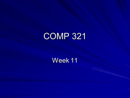 COMP 321 Week 11. Overview Lab 8-1 Solution Tag Files Custom Tags Web Application Deployment.