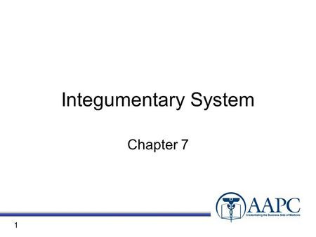 Integumentary System Chapter 7 1. CPT ® CPT® copyright 2010 American Medical Association. All rights reserved. Fee schedules, relative value units, conversion.
