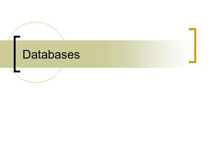 Databases. Types of databases Full-text (e.g. IEEE Explore, Periodicals Archive Online, Safari Books) Abstracts & some full text (e.g. Web of Science,