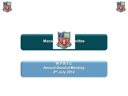 W.P.R.F.C Management Committee ProposalW.P.R.F.C Proposal W.P.R.F.C Annual General Meeting 8 th July 2014 W.P.R.F.C Annual General Meeting 8 th July 2014.