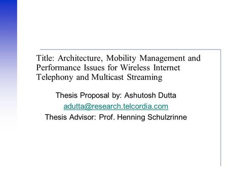 Mobile internet thesis