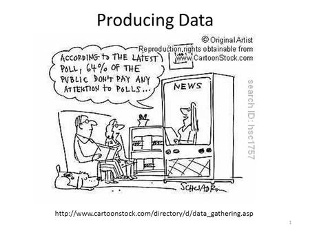 Producing Data  1.