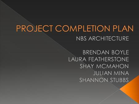  BRENDAN BOYLE (project manager/ architect) GROUND FLOOR REMODELLER  JULIAN MINA (architect) GRANNY FLAT REDESIGNER  LAURA FEATHERSTONE (architect)