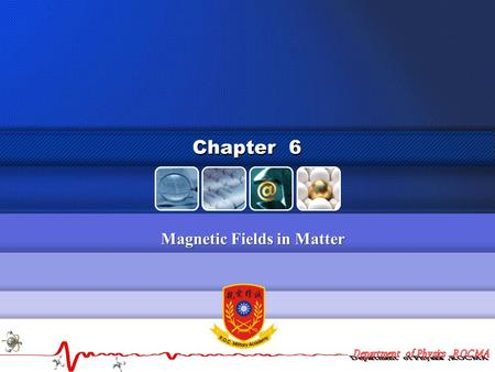 Magnetic Fields in Matter Chapter 6. 2  Magnetization.