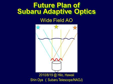 Future Plan of Subaru Adaptive Optics