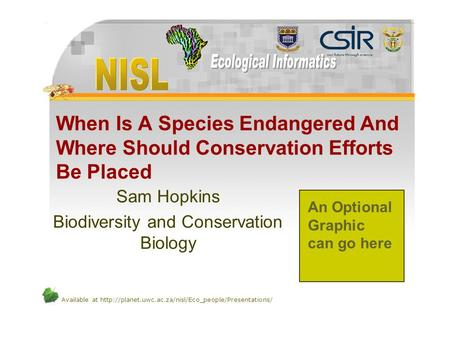 Available at  When Is A Species Endangered And Where Should Conservation Efforts Be Placed Sam Hopkins.