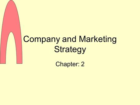 Company and Marketing Strategy Chapter: 2. Companywide Strategic Planning Strategic Planning The process of developing and maintaining a strategic fit.