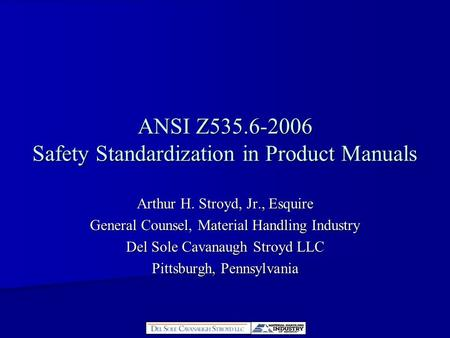 ANSI Z Safety Standardization in Product Manuals