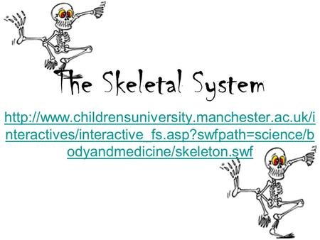 The Skeletal System  nteractives/interactive_fs.asp?swfpath=science/b odyandmedicine/skeleton.swf.