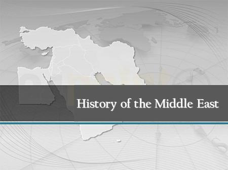 History of the Middle East. Mandate (in the League of Nations) = following WWI, countries were given the right to control the government and affairs of.