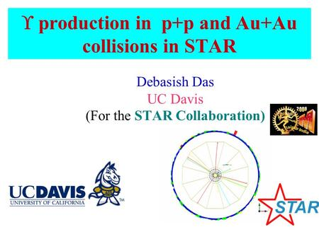  production in p+p and Au+Au collisions in STAR Debasish Das UC Davis (For the STAR Collaboration)‏