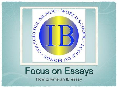 how to focus on writing an essay Introduction the introduction should be designed to attract the reader's attention and give her an idea of the essay's focus begin with an attention grabber.