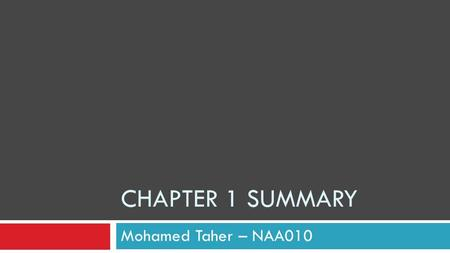 CHAPTER 1 SUMMARY Mohamed Taher – NAA010. Introduction Advertising is considered to be a marketing communication, where it communicates to the customer.