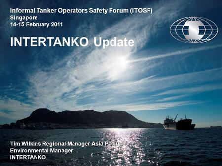 Informal Tanker Operators Safety Forum (ITOSF) Singapore
