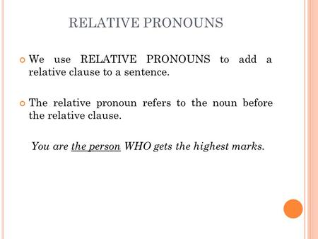 how to make relative clause