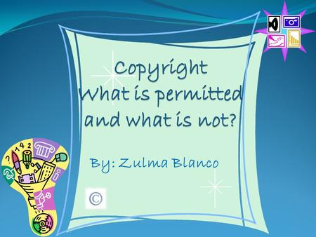 By: Zulma Blanco Copyright Infringement Copyright is a form of protection grounded in the U.S. Constitution and granted by law for original works of.