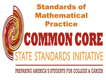 Standards of Mathematical Practice.