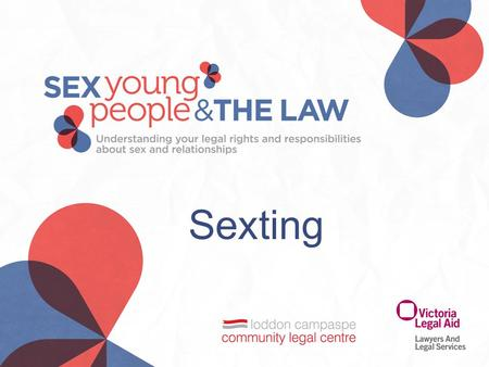 Sexting. Real life examples 'Prosecutor pursues first sexting conviction' 'Prosecutor pursues first sexting conviction' Sydney Morning Herald, 1 November.