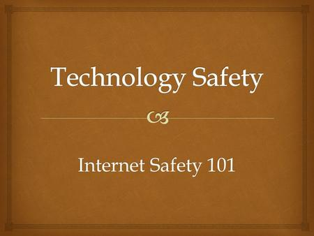 Internet Safety 101.  Potential Dangers  Social Networks  Online Gaming  Sexting  Pornography  Texting & Driving.