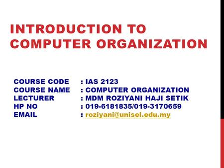 introduction to computer organization and This is the first book in the two-volume set offering comprehensive coverage of the field of computer organization and architecture this book provides complete coverage of the subjects pertaining to introductory courses in computer organization and architecture, including.