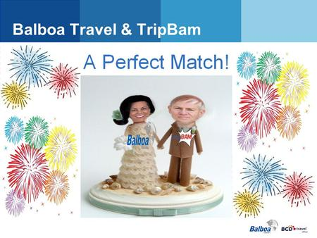 Balboa Travel & TripBam. TripBam Why TripBam? Technical Implementation Considerations Product Overview Suggestions.