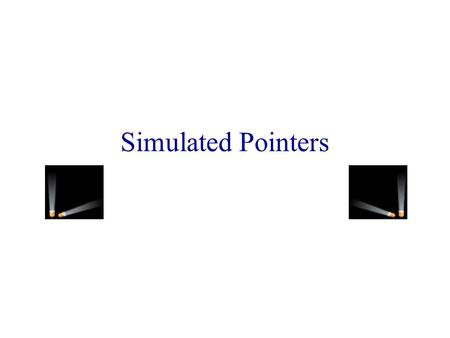 Simulated Pointers Limitations Of Java Pointers May be used for internal data structures only. Data structure backup requires serialization and deserialization.