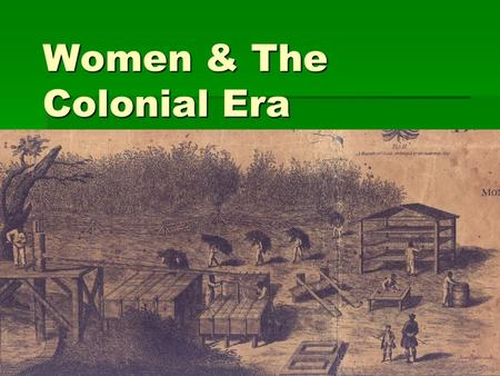 Women & The Colonial Era. Indentured Servants  Debtors prisons, Labor Contracts  Virginia Company  Labor Conditions & Punishment:  The female servants.