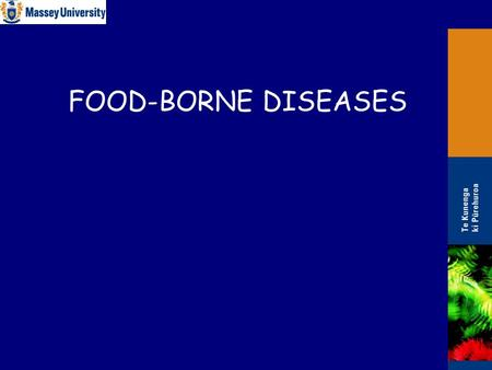 FOOD-BORNE DISEASES. 2 Introduction Causes of food-borne diseases/illnesses: 1.Chemical toxins ('residues') 2.Biotoxins – endotoxins & exotoxins 3.Infectious.