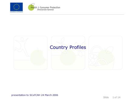 Slide of 14 presentation to SCoFCAH 24 March 2006 1 Country Profiles.