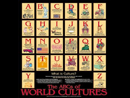 Culture Patterns of human activity and the symbolic structures that give such activity significant importance.