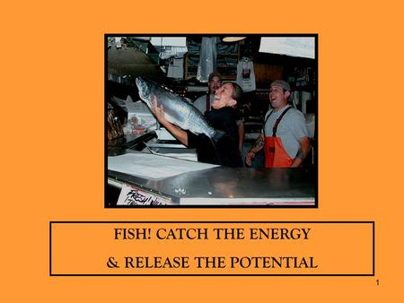 1 FISH! CATCH THE ENERGY & RELEASE THE POTENTIAL.
