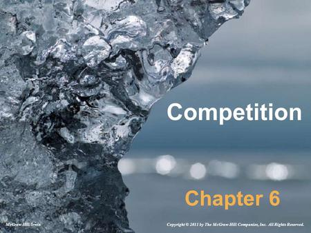Competition Chapter 6 Copyright © 2011 by The McGraw-Hill Companies, Inc. All Rights Reserved.McGraw-Hill/Irwin.