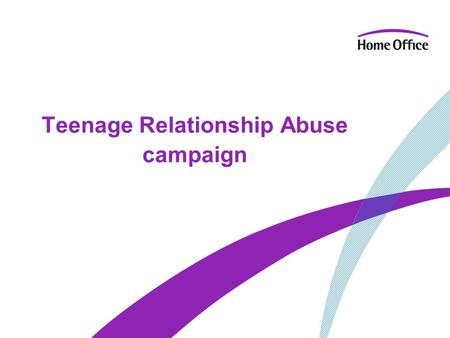 Teenage Relationship Abuse campaign. Campaign images 2.