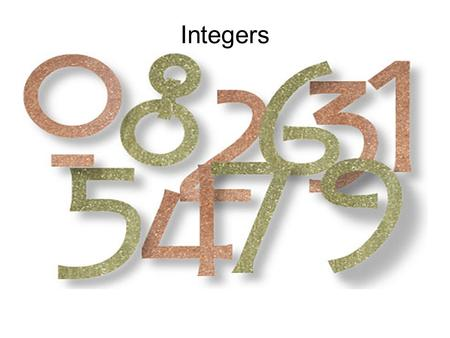 Integers. Introduction You have been given the task of developing a Keynote Presentation on Integers. You will spend 7 days in class completing this assignment.