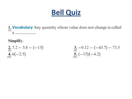Bell Quiz. Objectives Determine whether or not a sequence is arithmetic. Write a recursive formula for an arithmetic sequence. Find the nth term of an.