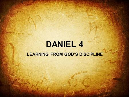 LEARNING FROM GOD'S DISCIPLINE