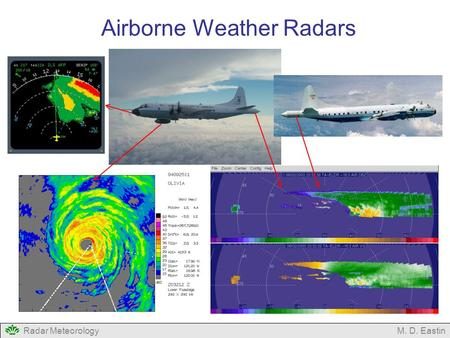 Radar MeteorologyM. D. Eastin Airborne Weather Radars.