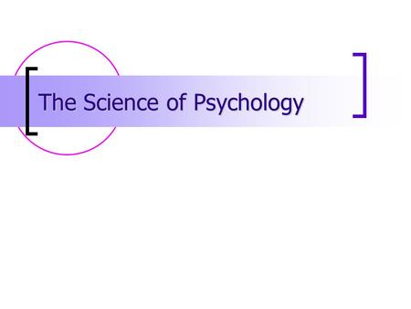 The Science of Psychology. What is something you believe to be true? How did you arrive at that belief? 2.