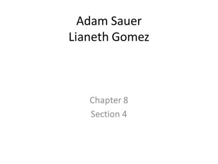 Adam Sauer Lianeth Gomez Chapter 8 Section 4. Class work Questions 1-name the advantages of franchises 2-name the disadvantages of franchises 3-what is.