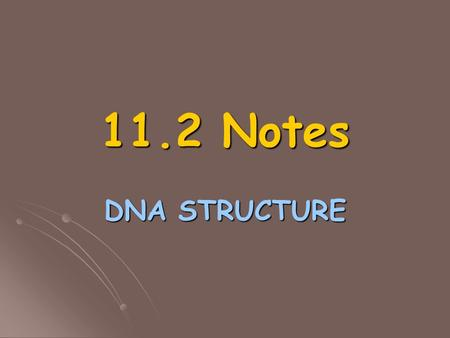11.2 Notes DNA STRUCTURE. What is DNA? Deoxyribonucleic acid = DNA Deoxyribonucleic acid = DNA Heritable genetic information Heritable genetic information.