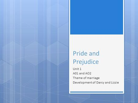 Pride And Prejudice: Marriage