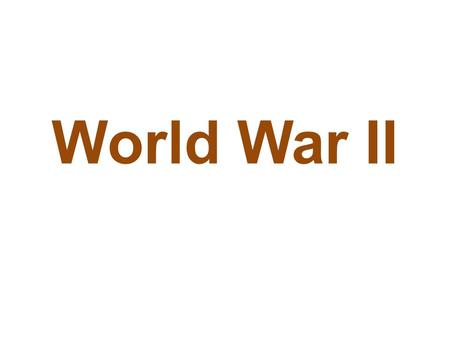 World War II. The Start of WWII World War II started when Neville Chamberlain (the British prime minister) agreed with Adolf Hitler (the German leader)